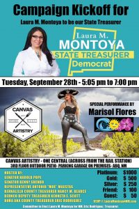 Laura Montoya for State Treasurer Kickoff @ 1 Central Ave., Albuquerque, NM 87102