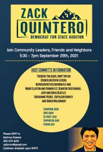 Zack Quintero for Auditor Fundraiser @ Available upon RSVP