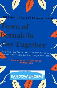 Town of Bernalillo Get Together @ Rotary Park, Bernalillo, NM
